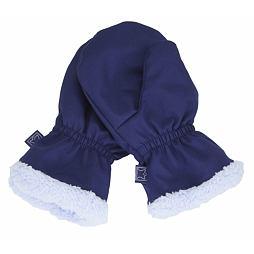 Dětské zimní rukavice vel. 2 (2-3 roky) - TMAVĚ MODRÉ S KOŽÍŠKEM (Fantom) c1b81b5332