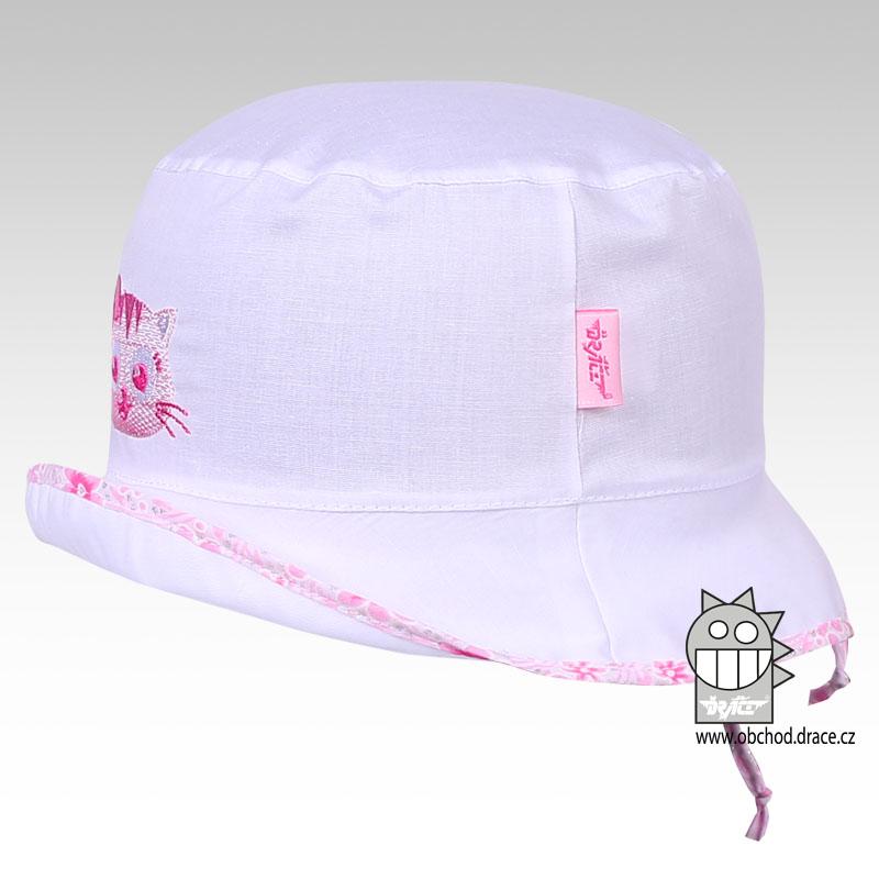 2ffc726d6cd Letní klobouk Dráče vel. 46-48 - Havana (bílý s růžovou kočičkou 13 empty